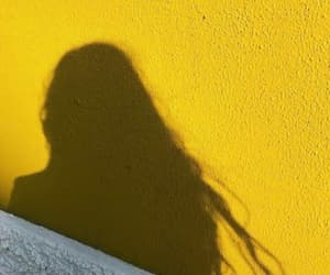 girly, shadow, and yellow image