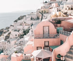 girl, Greece, and pink image