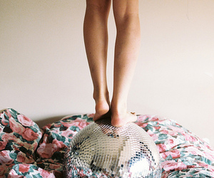 girl, legs, and disco image
