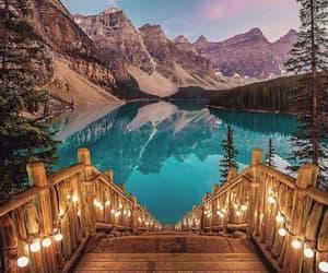 lake, light, and mountains image