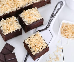 brownies, sweets, and chocolate image