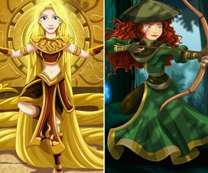 art, rapunzel, and avatar the last airbender image