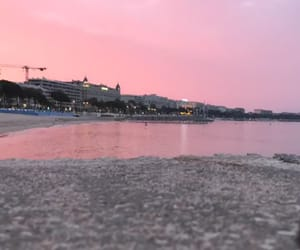 cannes, French Riviera, and pink sky image