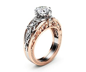 diamonds, 14k rose gold, and etsy image