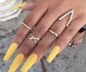 yellow and nails image