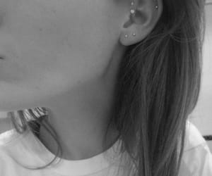 earring, rings, and girl image