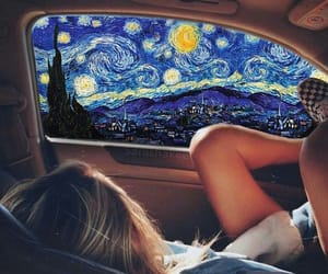 art, indie, and van gogh image
