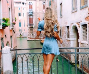 girl, travel, and beauty image