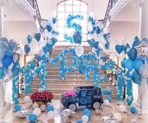 baby blue, birthday, and luxury image