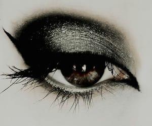 eye, green, and smoky eye image