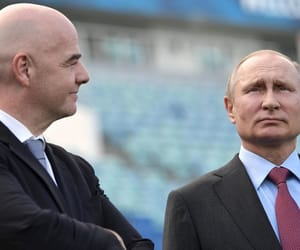 fifa worldcup and fifa president image