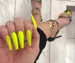 nail polish, nail goals, and yellow nails image