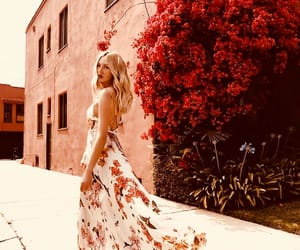 beauty, blonde, and floral image