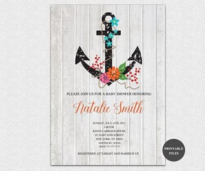 etsy, baby shower invitations, and girl baby shower image