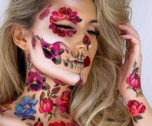 belleza, maquillaje, and body painting image