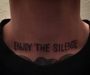 tattoo, grunge, and silence image