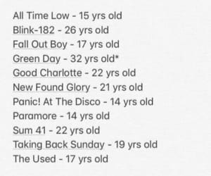 all time low, bands, and blink 182 image