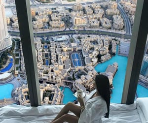 babe, city, and Dubai image