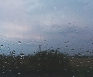 clouds, drop, and rain image