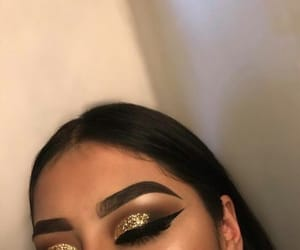makeup and glitter image