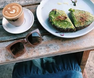 avocado, breakfast, and brown image