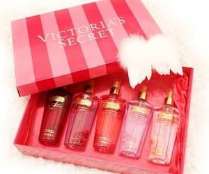 perfume, present, and red image