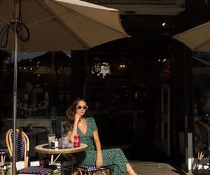 cafe, hairstyle, and parisian image