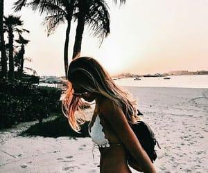 girl, aesthetic, and beach image