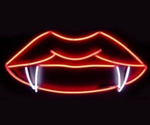 vampire, neon, and Dracula image