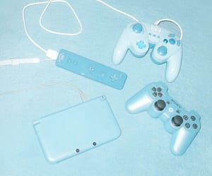 blue, game, and pastel image