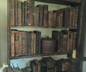 antique, books, and library image