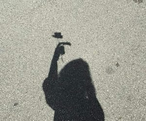 girl, shadow, and flowers image