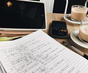 cafe, college, and desk image