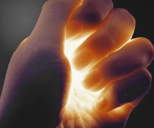 light, hand, and magic image