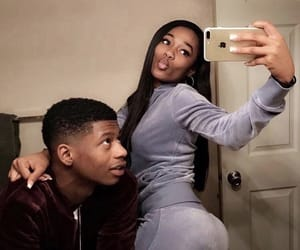 cute couples, black couples, and cute image