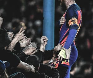 messi, Barcelona, and soccer image