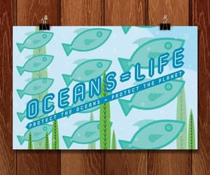 graphic design, ocean, and oceans image