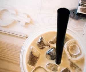 article, coffee, and ice coffee image