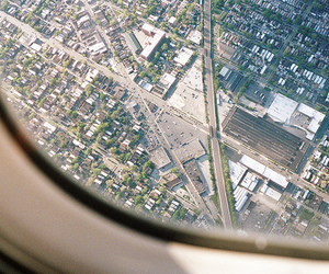 city, photography, and airplane image