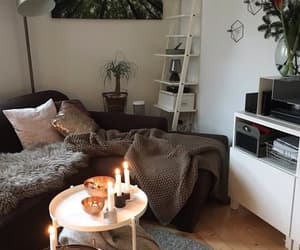 bedroom, candle, and cosy image
