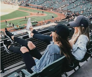 aesthetic, baseball, and best friends image