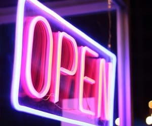 neon, open, and pink image