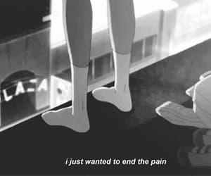 pain, end, and sad image