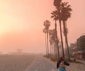 beach, california, and mood image