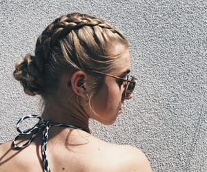 bikini, braid, and bun image