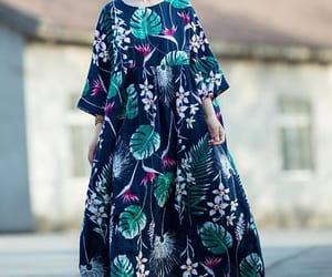 blue dress, holiday dress, and maxidress image