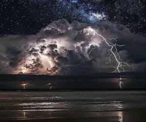storm, nature, and night image