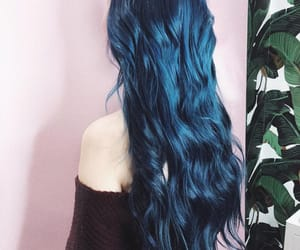 blue hair, dyed hair, and girls image