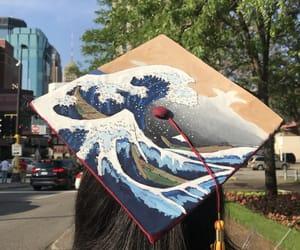 art, graduation, and grad cap image