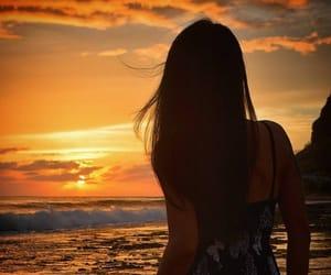 beach, models, and bikinis image